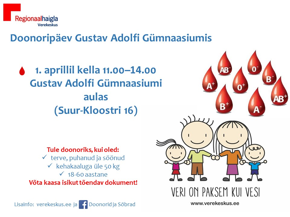 Kevadine doonoripäev GAGs