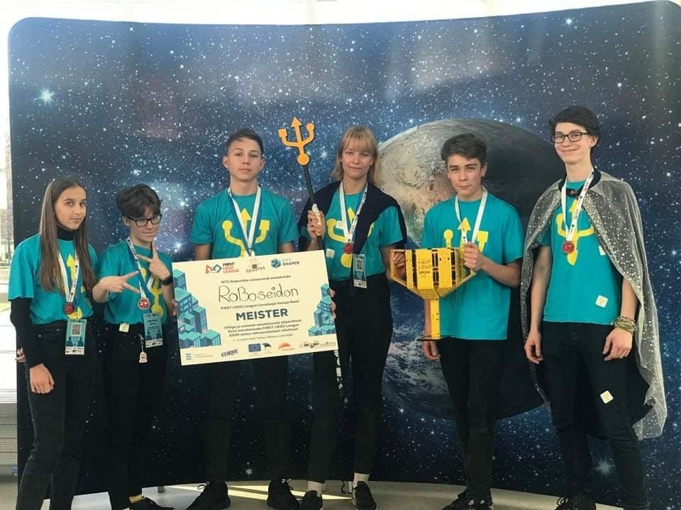 Roboseidon on Eesti meister First Lego League võistlusel