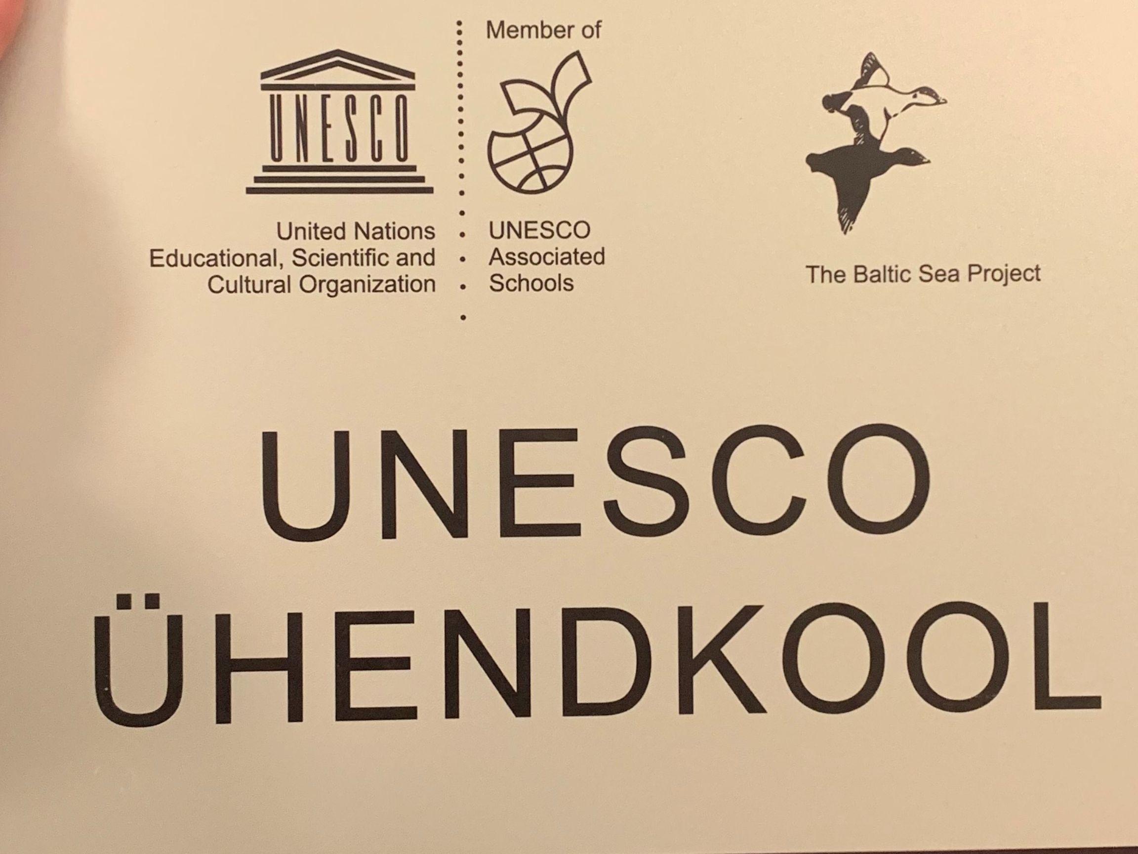 GAG on Unesco ühendkoolide võrgustiku liige juba 10 aastat